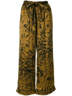 широкие брюки с цветочным узором Gold Hawk