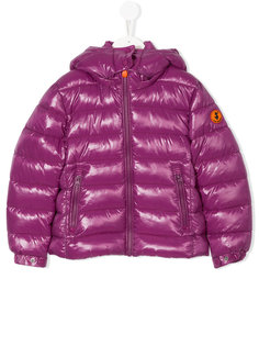дутое пальто с нашивкой-логотипом  Save The Duck Kids