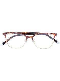 tortoiseshell square glasses frame Calvin Klein