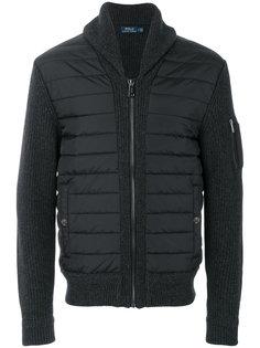 куртка-бомбер с трикотажными рукавами Polo Ralph Lauren