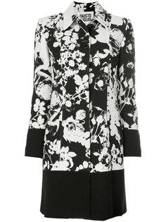 пальто с цветочным узором  Fausto Puglisi