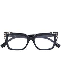 очки в квадратной оправе с заклепками Fendi Eyewear