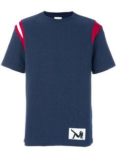 футболка с контрастными панелями на плечах Calvin Klein Jeans