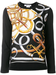 свитер с принтом металлик  Comme Des Garçons Comme Des Garçons