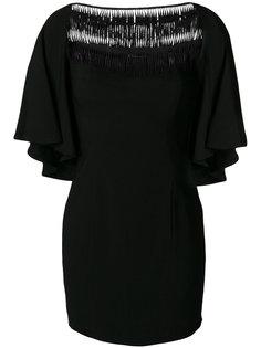 платье шифт с вышивкой  Plein Sud