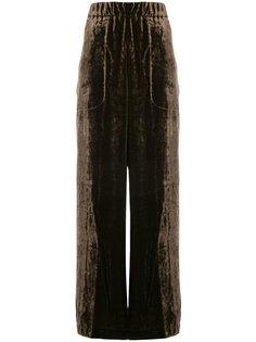 бархатные брюки-палаццо  Uma Wang