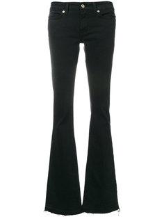 джинсы клеш с бахромой  Dondup