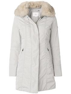 пальто на пуговицах с меховым воротником  Peuterey