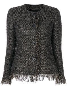 приталенный твидовый пиджак  Tagliatore