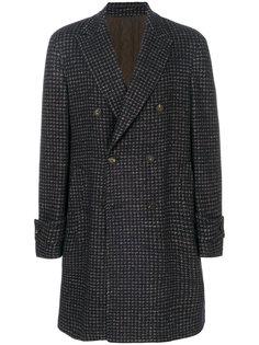 пальто в ломаную клетку Lardini