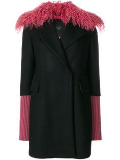 пальто с меховой отделкой  Frankie Morello