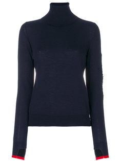 свитер с отворотом и контрастной отделкой  Barrie