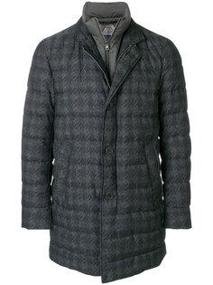 пуховое пальто в клетку Herno