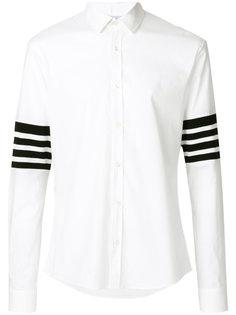 рубашка с полосками на рукавах Les Hommes Urban