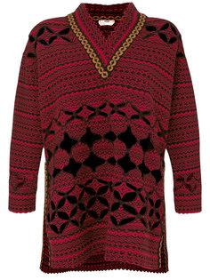 свободный свитер с фигурной отделкой  Fendi