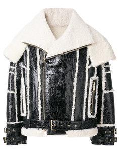 байкерска куртка из овчины Balmain