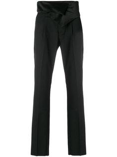 брюки с атласным поясом Balmain