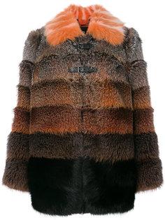 пальто из меха лисы омбре Fendi
