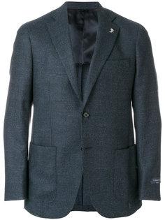 меланжевый классический пиджак Tombolini