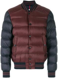 двухцветная куртка-бомбер  Moncler