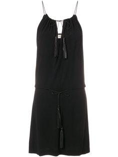 платье-мини с кисточками Saint Laurent