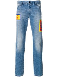 выбеленные джинсы прямого кроя Fendi