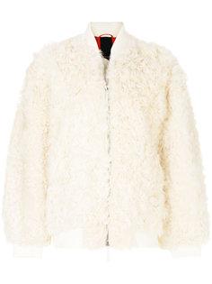 короткая фактурная куртка на молнии  Numerootto