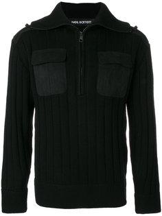 свитер с нагрудными карманами Neil Barrett