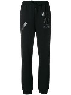 спортивные брюки с виниловым логотипом  Moschino