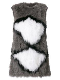 printed sleeveless jumper Meteo By Yves Salomon