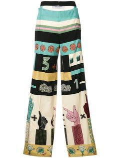 брюки с графическим принтом  Valentino