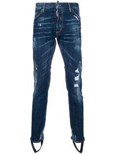 джинсы с рваной отделкой Dsquared2