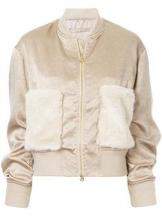 куртка с карманами с меховой отделкой  Cityshop
