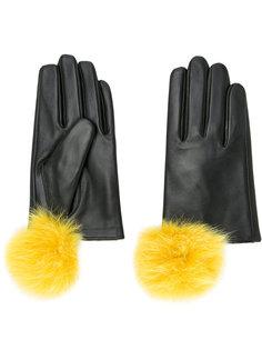 перчатки с помпонами Cityshop