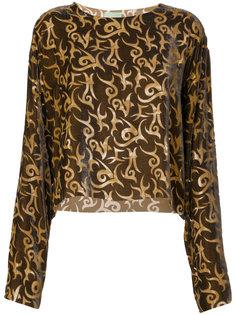 блузка с принтом  Aries