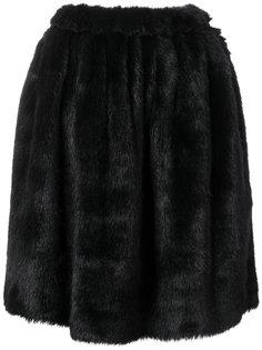 юбка-солнцеклеш с ворсистой отделкой Comme Des Garçons Girl