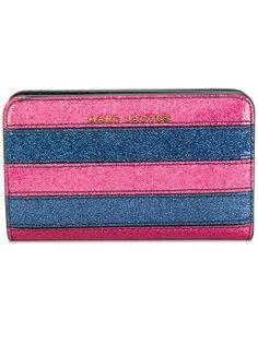 полосатый кошелек с блестками Marc Jacobs