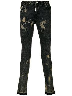 джинсы с потертой отделкой Represent