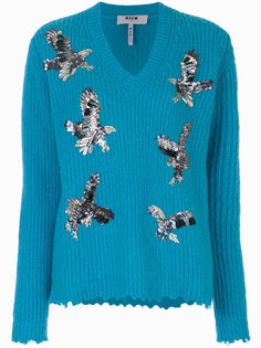 декорированный свитер MSGM