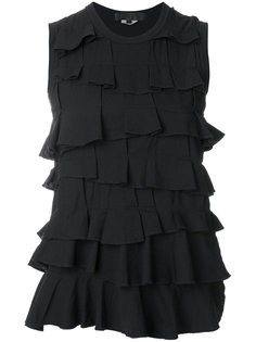 short sleeved layered blouse Comme Des Garçons