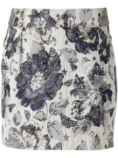 приталенная юбка с цветочной вышивкой  Piccione.Piccione