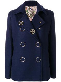 приталенное двубортное пальто  Piccione.Piccione