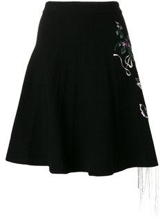 юбка с цветочной вышивкой  Piccione.Piccione