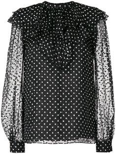 блузка с узором в горох и рюшами Giambattista Valli