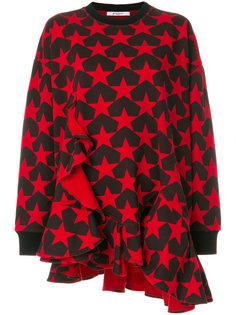 толстовка с оборкой и звездным принтом  Givenchy