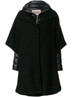 дутое пальто с контрастной отделкой  Herno