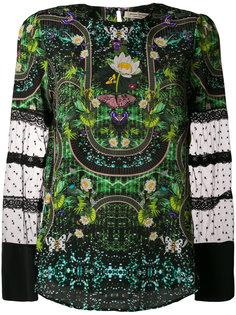 блузка с цветчоной вышивкой  Piccione.Piccione