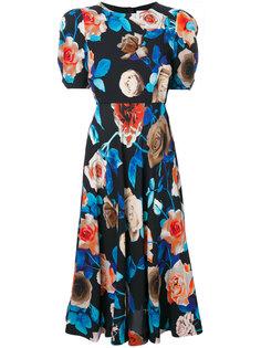 платье миди с цветочным принтом MSGM