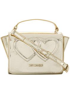 сумка через плечо с принтом сердец Love Moschino