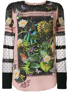 блузка с цветочной вышивкой  Piccione.Piccione